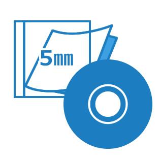 DVDプレス海外5mmPケースパック